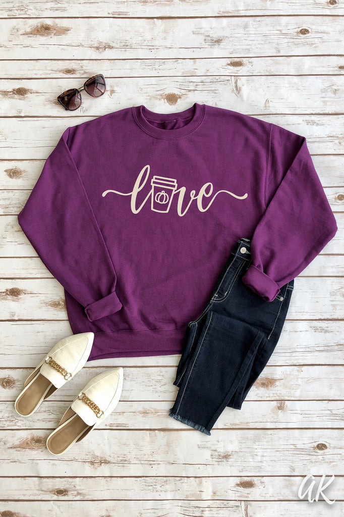 AK Tees - Pumpkin Spice Love Sweatshirt