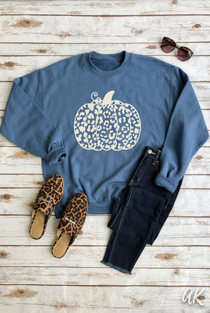 AK Tees - Leopard Pumpkin Sweater