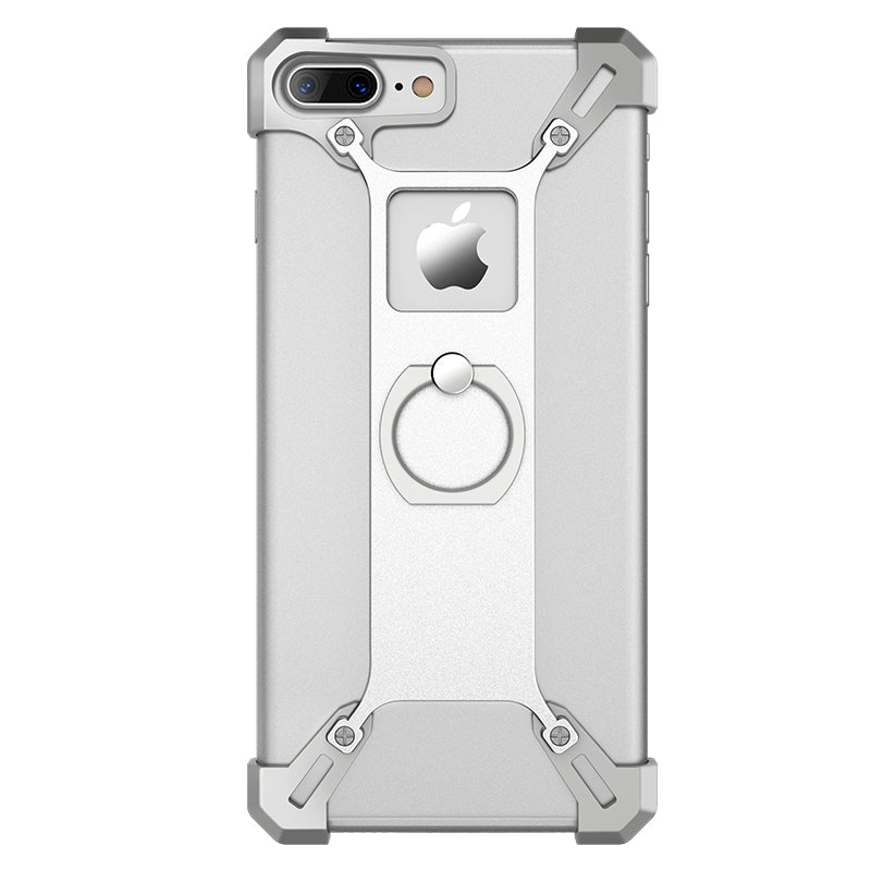 iPhone 7 Plus Case Metal Tough Back Cover Ring Shape Holder Case