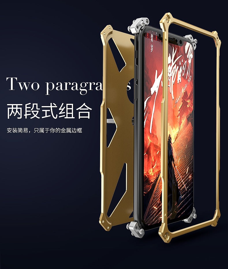 New 360 Heavy Duty Aluminum Metal iPhone X 8 Case