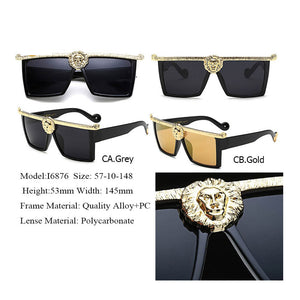 Designer Oversized 3D Lion Head  Sunglasses