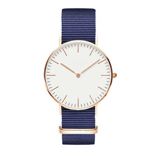 Luxury Fashion Quartz Canvas Watch