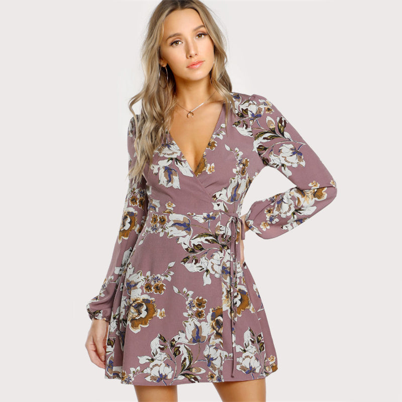 Lilly Wrap Floral Dress