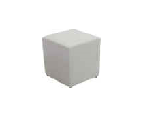 Single White Ottoman
