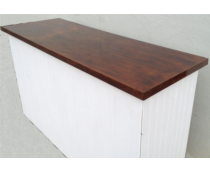 Wood Paneled Serving Bar