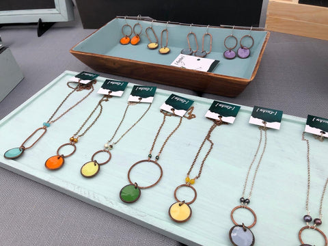 Enameled Penny Necklaces
