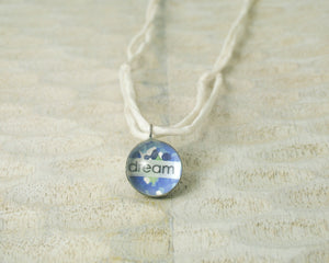 Dream Little Reminder pendant necklace with vintage wallpaper