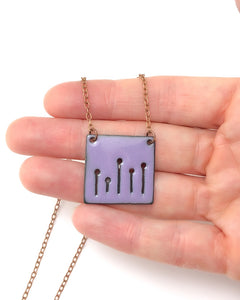 Lavender Field of poppies necklace