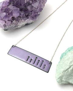 Lavender Field of poppies wide necklace
