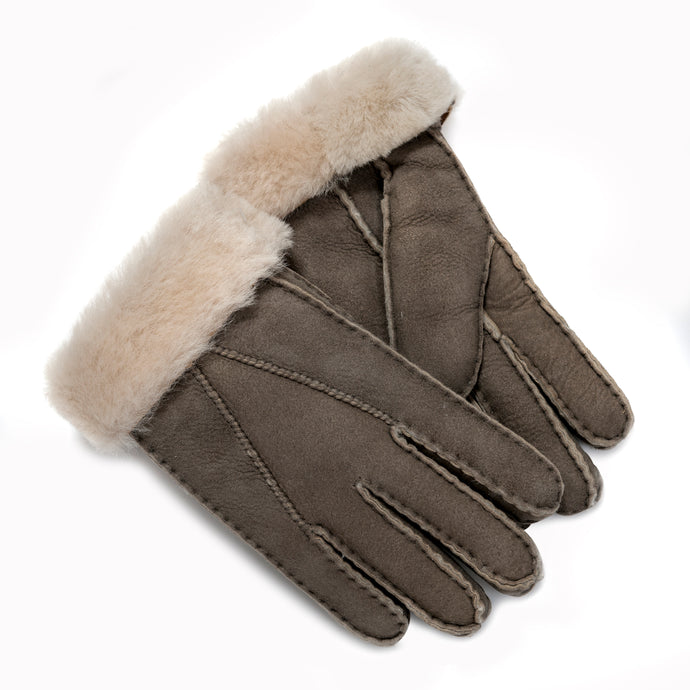 SALE: Tommy Tou Mushroom or Grey Sheepskin Gloves HALF PRICE