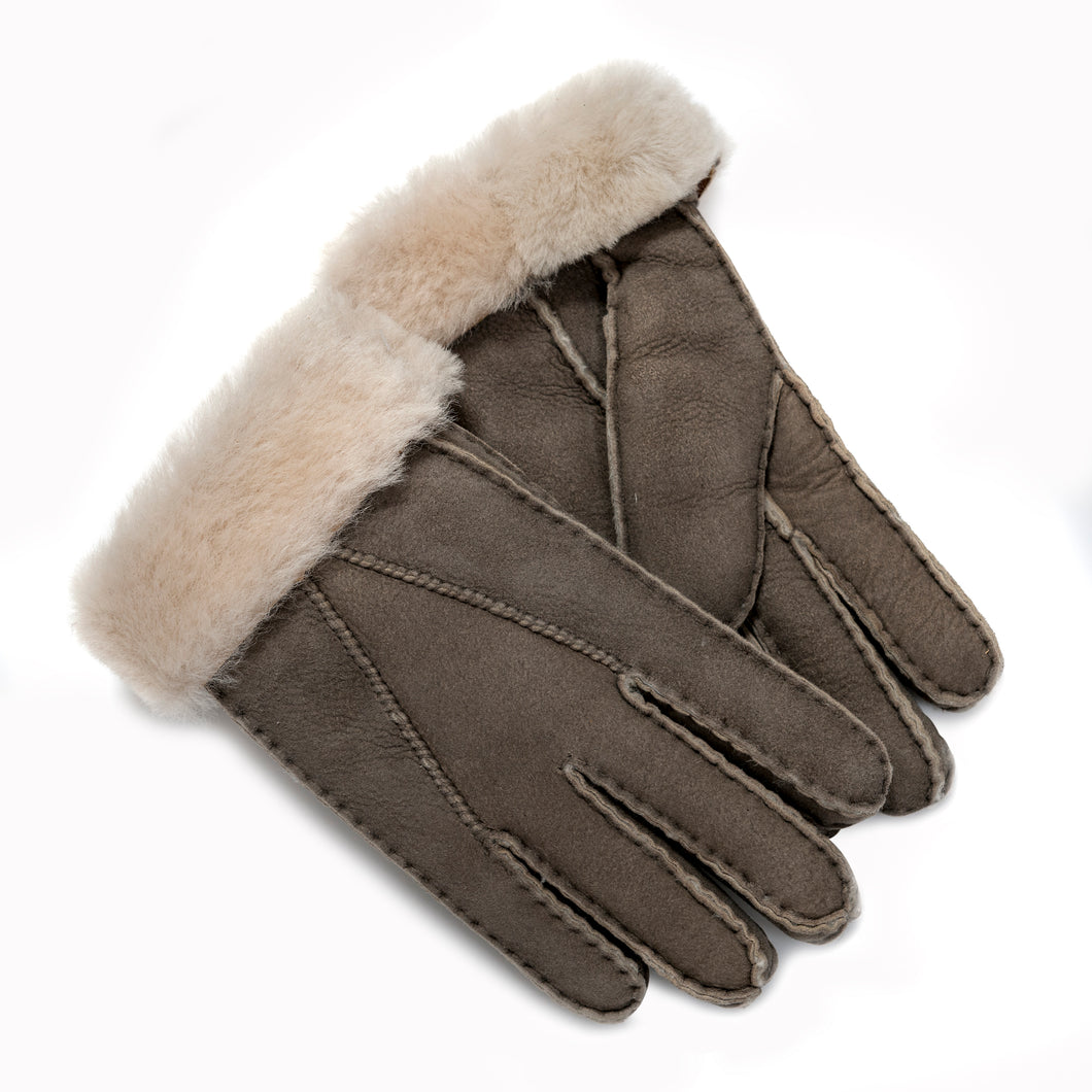 Tommy Tou Mushroom or Grey Sheepskin Gloves