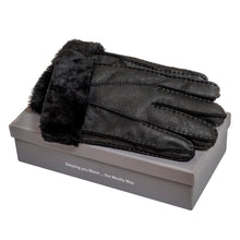 SALE: Tommy Tou Men's Leather gloves fully-lined with sheepskin.