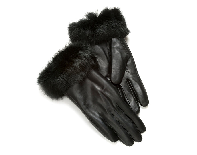 Tommy Tou Ladies luxury nappa Leather Gloves.Sheepskin lined