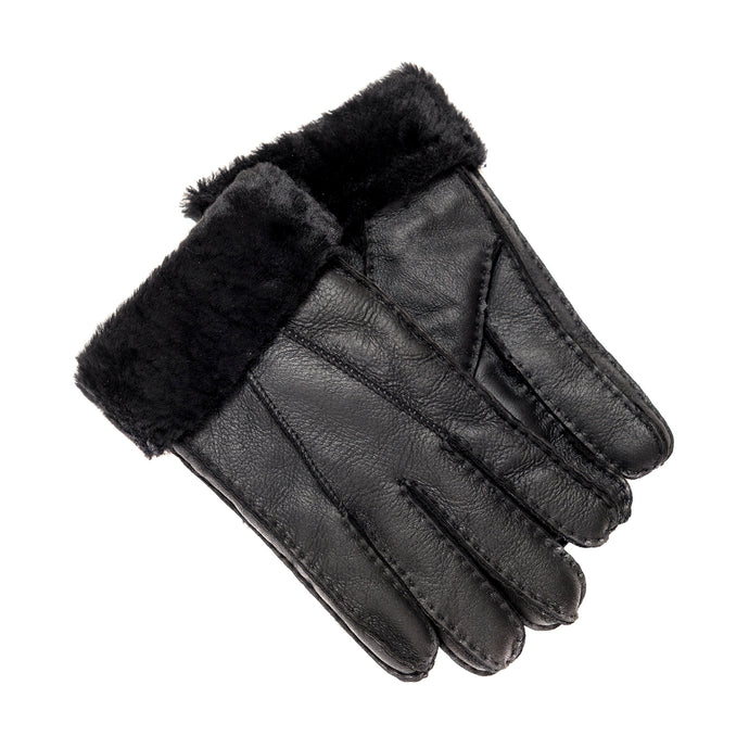 FACTORY OUTLET: Tommy Tou Men's Leather gloves fully-lined with sheepskin.