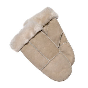 Tommy Tou Genuine Sheepskin mittens in colour Beige