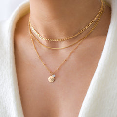 vedern necklaces, gold filled necklaces, layering necklaces, necklace stack