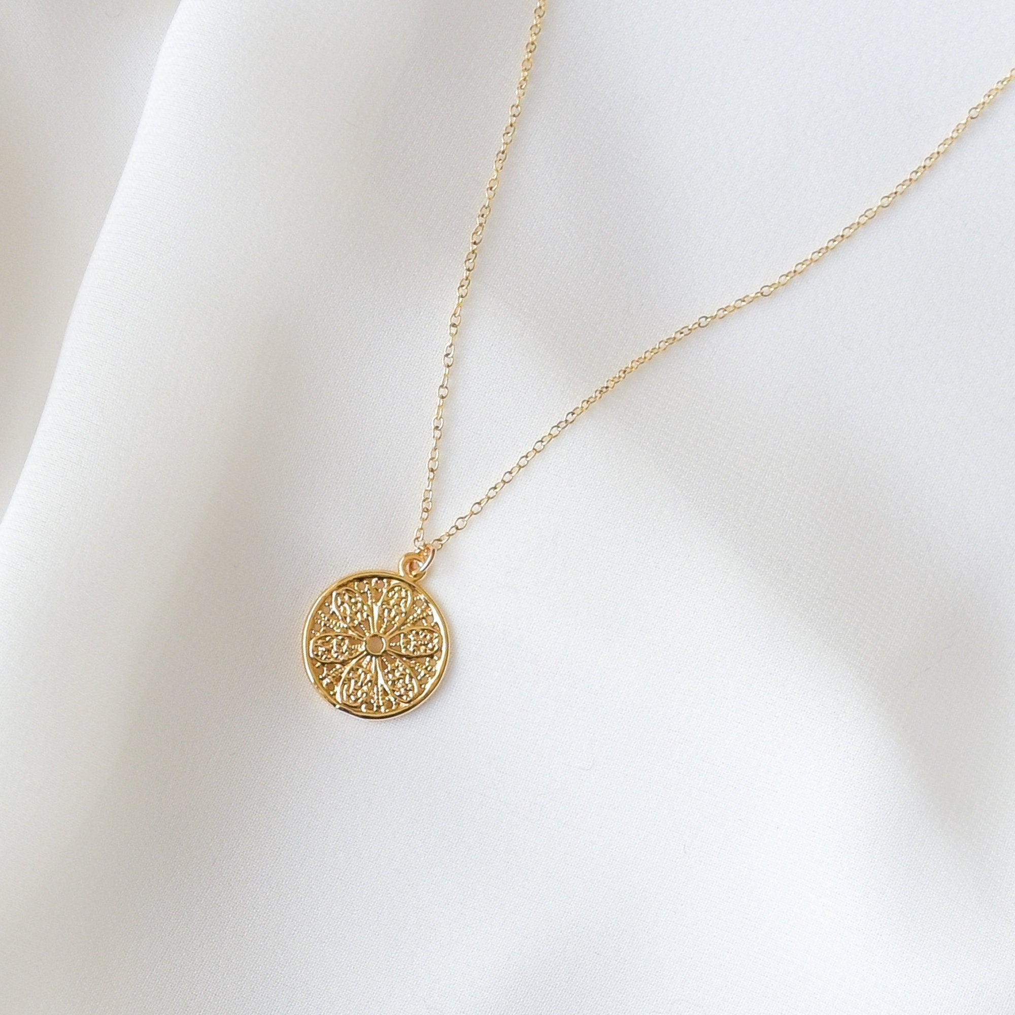 Filigree Coin Necklace