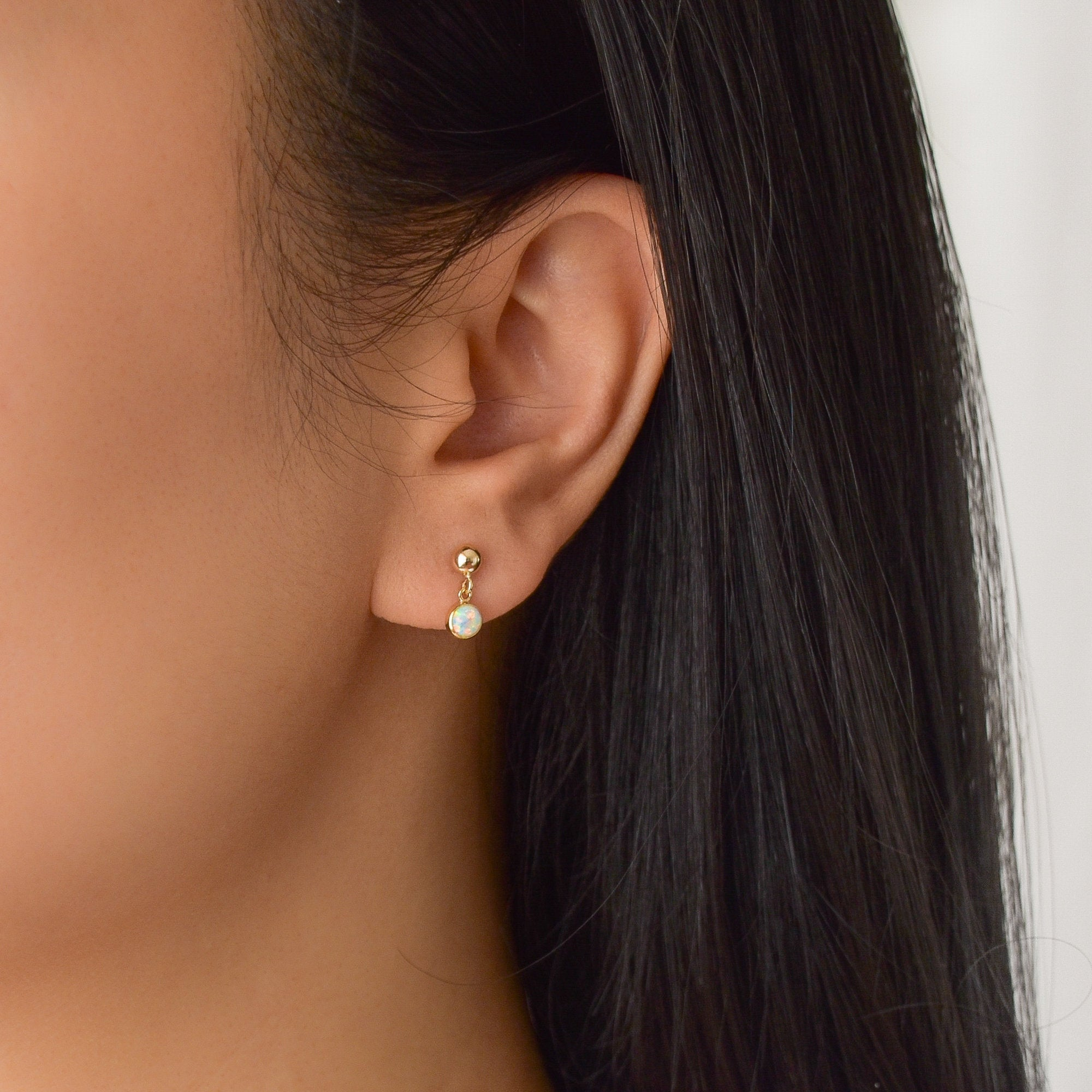 Dainty Opal Earrings