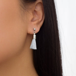 Mini Silver Tassel Earrings