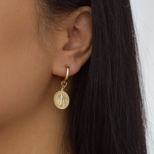 Mary Coin Hoop Earrings