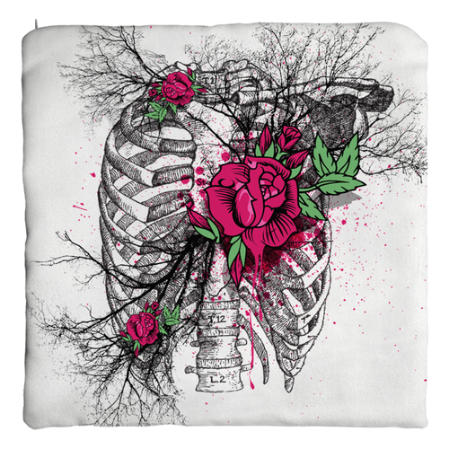 Rib Roses Pillow Covers