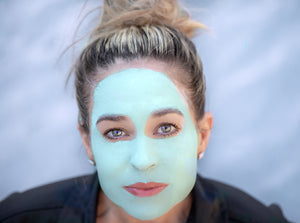 Mom using Rejuvenating Mint Mask