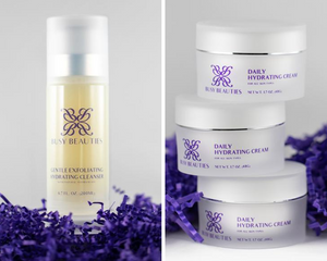 Busy Beauties basic essentials for healthier skin - Gentle Exfoliating Hydrating Cleanser and Daily Hydrating Cream