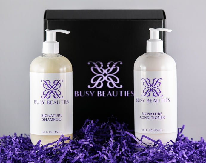 Busy Beauties - Signature Shampoo and Conditioner with Box