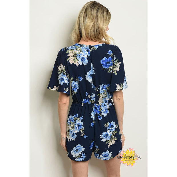 Forever Floral Romper - Women - Apparel - Jumpsuits/Rompers - The Olive Branch Co. Boutique