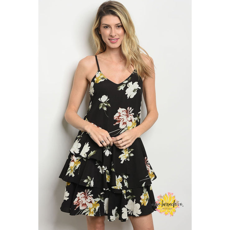 Leila Floral Tiered Ruffle Dress - Women - Apparel - Dresses - Day to Night - The Olive Branch Co. Boutique