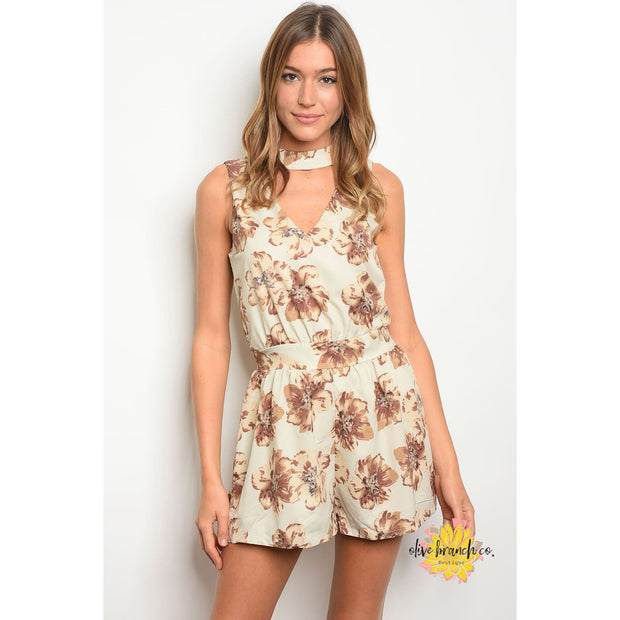 Rustic Wildflower Floral Romper - Women - Apparel - Jumpsuits/Rompers - The Olive Branch Co. Boutique