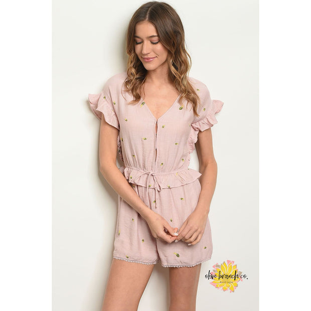 Summer Days Ruffled Romper - Women - Apparel - Jumpsuits/Rompers - The Olive Branch Co. Boutique