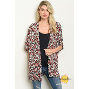 Sweet & Sassy Women's Leopard Kimono - Women - Apparel - Outerwear - Blazers - The Olive Branch Co. Boutique