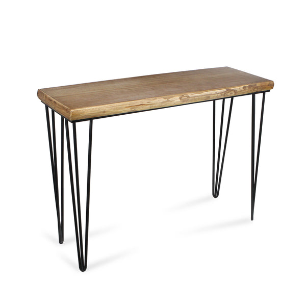 Cheungs - Rectangular Wood Table with Metal Legs