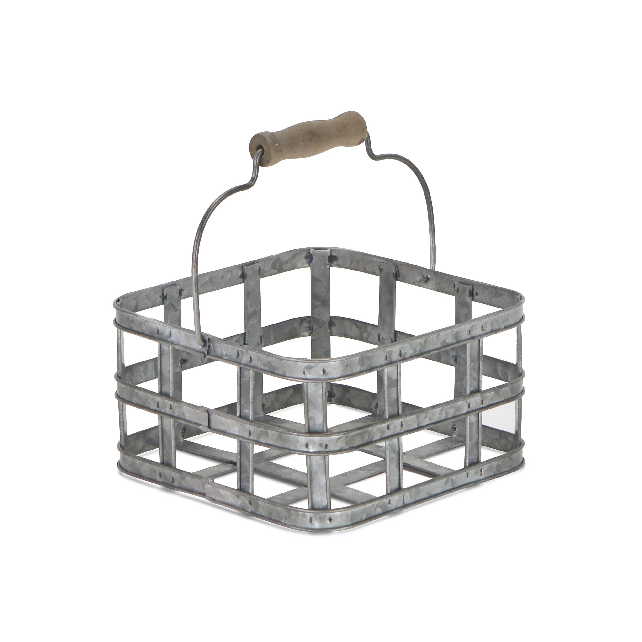 Cheungs - Square Metal Slatted Caddy