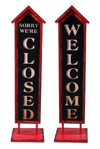 Welcome/Closed Sign