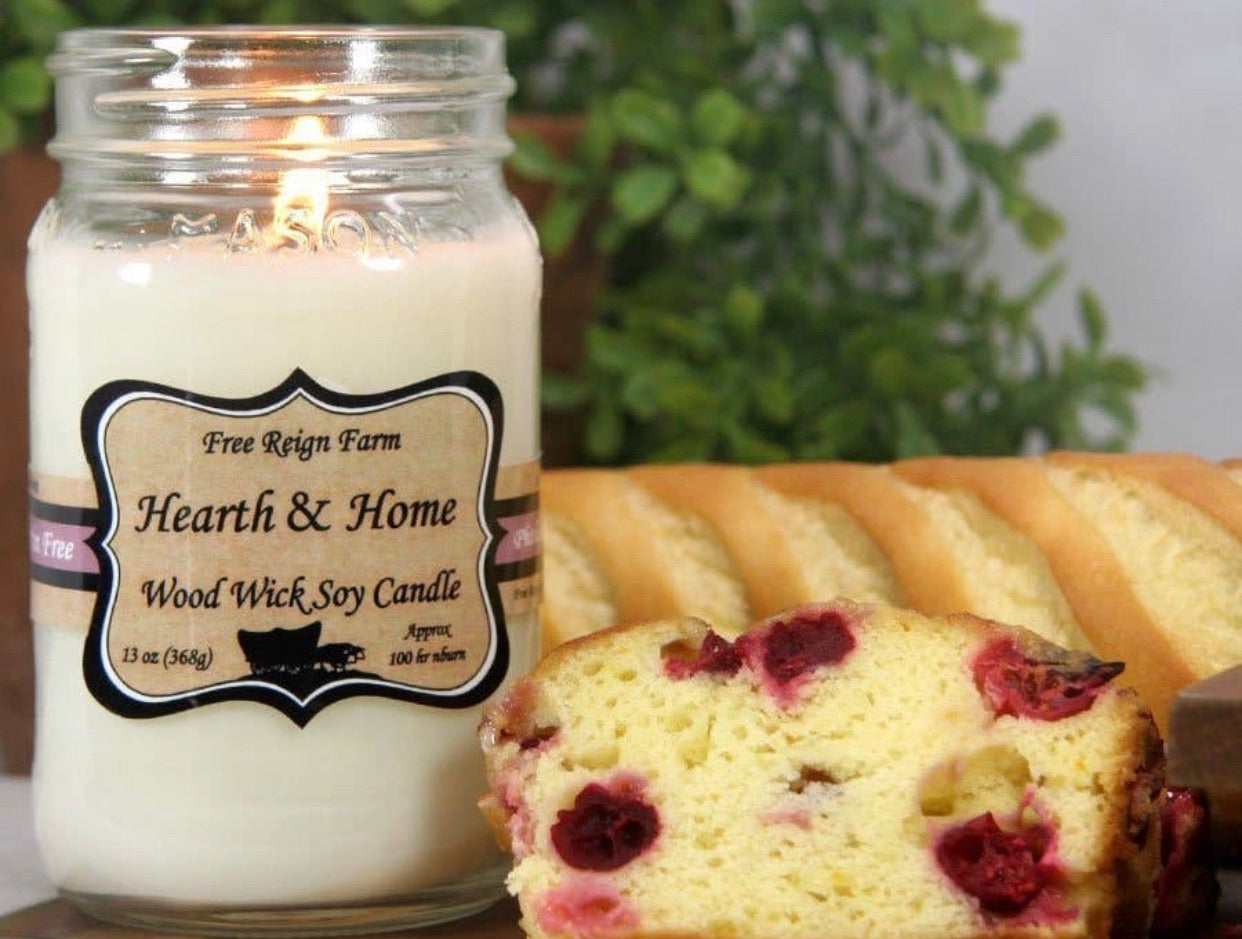 Hearth and Home Wood Wick 100% Soy Candles Phthalate Free