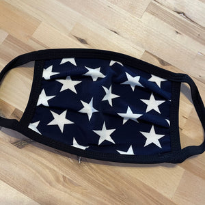 Navy and White Star Mask