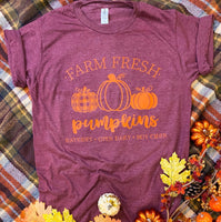 Farm Fresh Pumpkins, Heather Burgundy