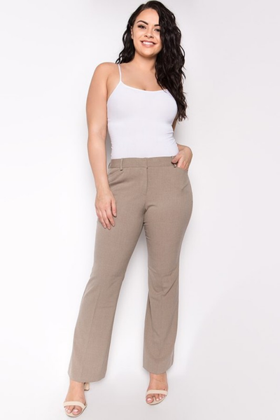 Basic Dress Pant Khaki Pebble