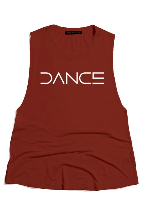 "ROUND NECK SCOOP TANK ""DANCE"""