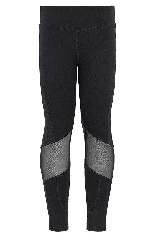 Mesh Knee Vline Girls Legging