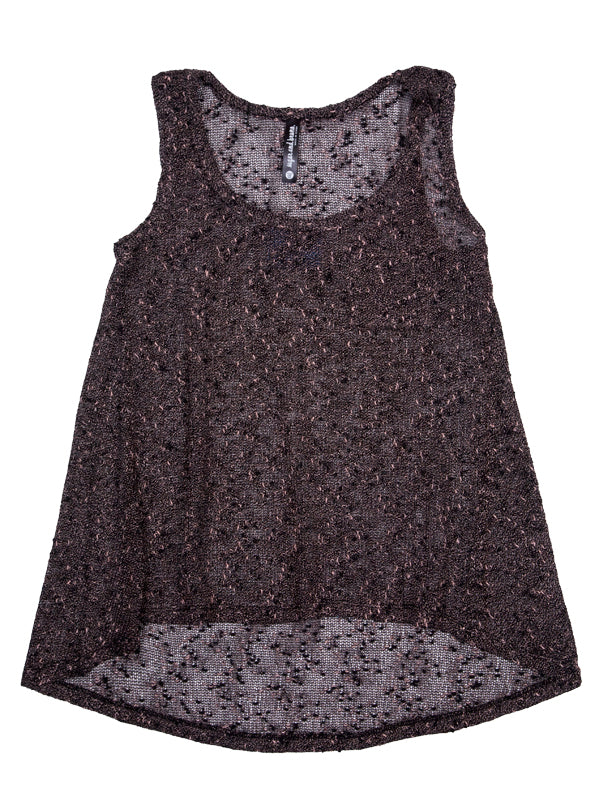 HI-LO YOUTH TANK, BLACK SPECKLE