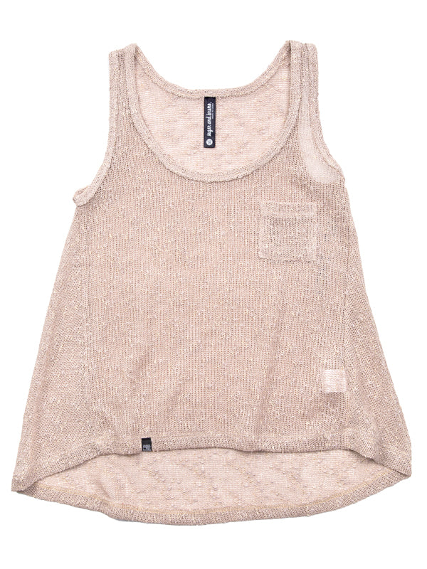 HI-LO YOUTH TANK, OATMEAL