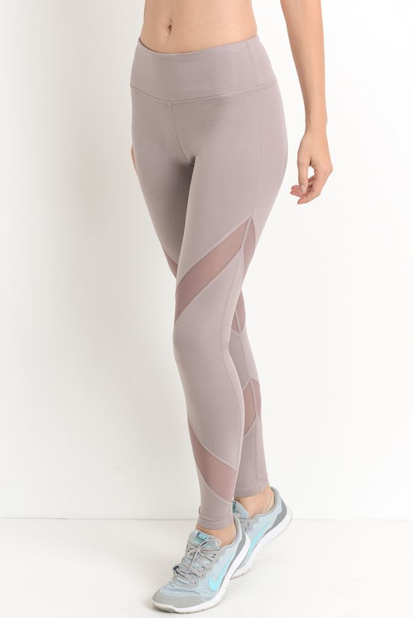 Criss-Cross Mesh Full Leggings