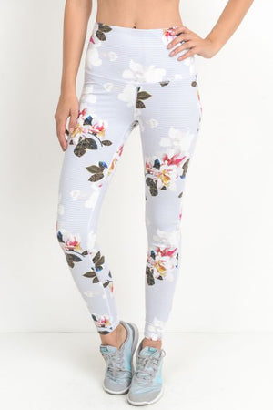 Highwaist Romantic Floral Print Full Leggings