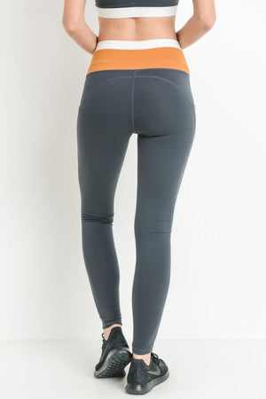 Highwaist Dual Color Full Leggings