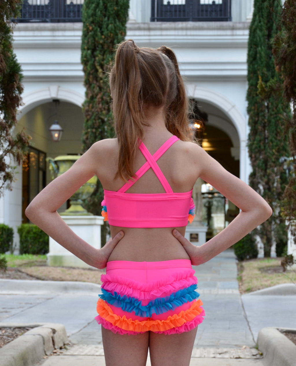 HOT PINK/ TEAL & ORANGE DANCE SET