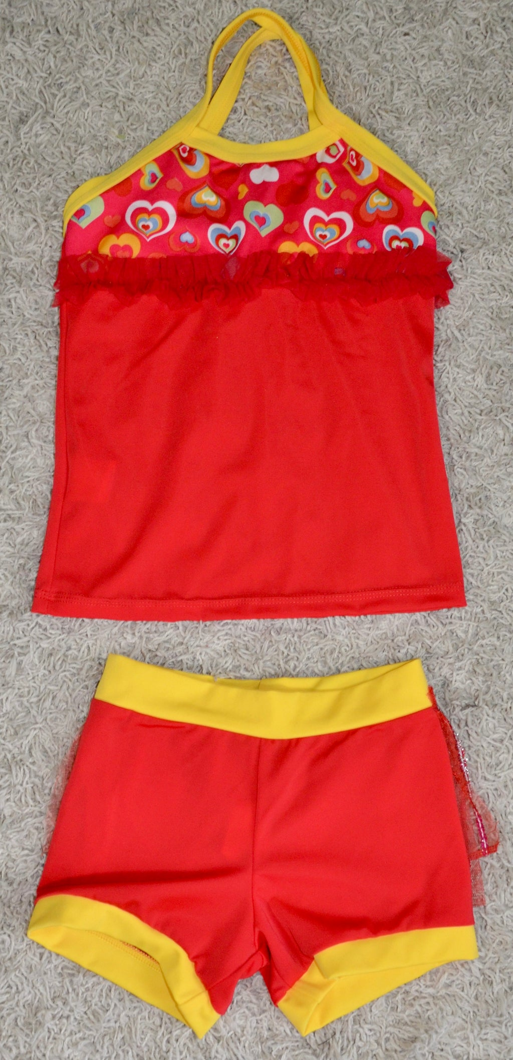 RED & YELLOW/ HEARTS DANCE SET