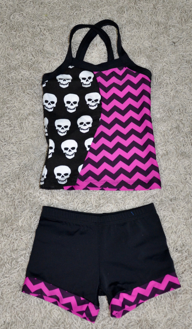 BLACK/ DEEP PURPLE & SKULLS SET